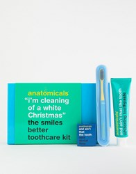 Anatomicals I'm Cleaning For A White Christmas Toothcare Kit No Colour Clear