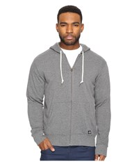 Obey Lofty Creature Comfort Zip Hoodie Heather Grey Men's Sweatshirt Gray