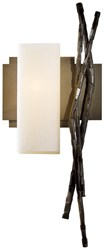 Hubbardton Forge Brindille Wall Sconce Left Bronze Pearl Glass