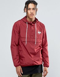 Hype Lightweight Overhead Jacket Burgundy Red