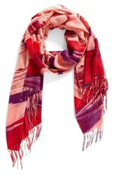 Nordstrom Women's Painted Dream Wool And Cashmere Scarf Pink Combo