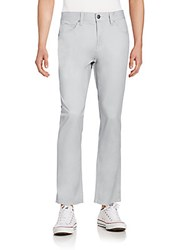 Perry Ellis Brushed Cotton Twill Pants Alloy