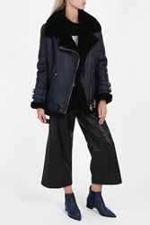 Acne Studios Women S Velocite Aviator Jacket Boutique1 Dnavy Black