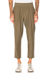 Maiden Noir Cropped Trousers Olive