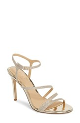 Jewel Badgley Mischka Maddison Sandal Light Gold Glitter Fabric