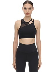 Nike Swoosh Rebel Slash Bra Black