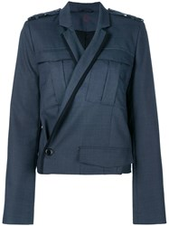 A.F.Vandevorst Classic Fitted Jacket Blue