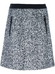 Moncler Boucle Style Knit Skirt Black
