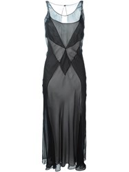 Maison Martin Margiela Maison Margiela Semi Sheer Panelled Dress Black