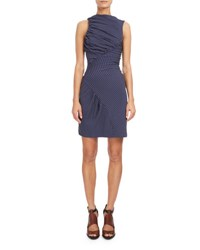 Atlein Sleeveless Ruched Mini Dress Navy