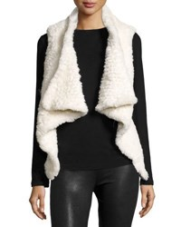 Cusp By Neiman Marcus Faux Fur Open Front Vest Winter Whi