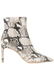 Sophia Webster Rizzo Python Print Ankle Boots Neutrals