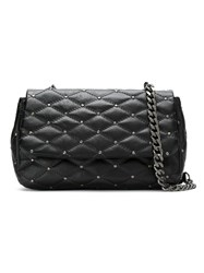 Mara Mac Leather Quilted Shoulder Bag Black