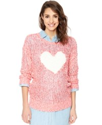 Motherhood Maternity Crew Neck Sweater Red Heart