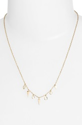Melinda Maria 'Kate' Fringe Charm Necklace Gold