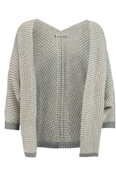 Autumn Cashmere Textured Knit Cashmere Cardigan Gray