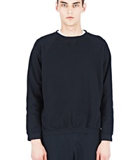 Aiezen Cotton Crew Neck Sweater Black