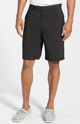 Men's Big And Tall Zero Restriction 'Links' Moisture Wicking Technical Shorts Black