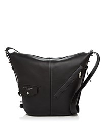 Marc Jacobs The Sling Leather Hobo Black Silver