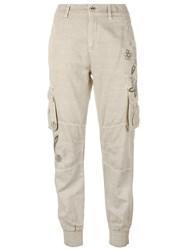 Twin Set Studded Trousers Nude Neutrals