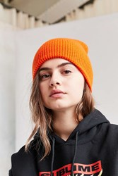 Urban Outfitters Waffle Knit Beanie Orange