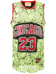 Night Market Lace Insert Chicago Jersey Women Polyester One Size Green