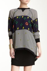 L.A.M.B. Space Invaders Blouse Black