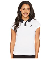 Asics Court Classic Polo Brilliant White Short Sleeve Pullover