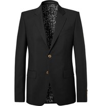 Givenchy Black Slim Fit Wool And Mohair Blend Blazer Black