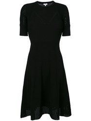 Kenzo Fit And Flare Lace Hole Dress Women Polyester Viscose Xs Black
