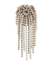 Dries Van Noten Starburst Dangle Strauss Chain Brooch White