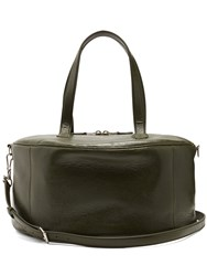 Balenciaga Air Hobo Medium Leather Tote Dark Green