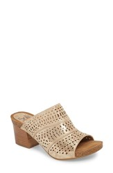 Sofft Magnolia Mule Platino Distressed Foil Suede