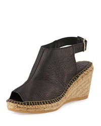 Andre Assous Laurie Leather Wedge Sandal Black