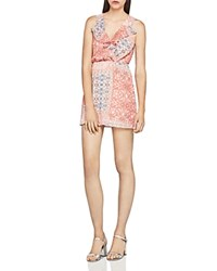 Bcbgeneration Patchwork Print Ruffle Dress Dusty Rose
