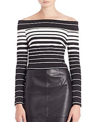 Nicholas N Ponte Off The Shoulder Top Stripe