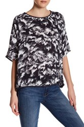 Supplies By Unionbay Patsy Malibu Printed Elbow Length Sleeve Shirt Gray