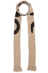 Off White Mirror Mirror Big Scarf In Brown Abstract Brown Abstract