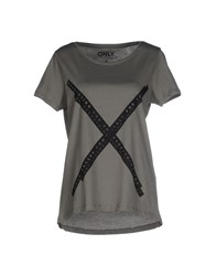 Only Topwear T Shirts Women Military Green
