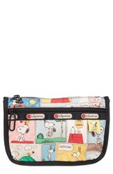 Le Sport Sac Lesportsac Travel Cosmetic Case Snoopy Patchwork