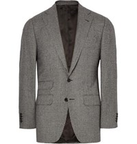 Thom Sweeney Grey Wool Puppytooth Suit Jacket Gray
