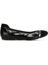 Hogan 'Wrap H144' Ballerinas Black