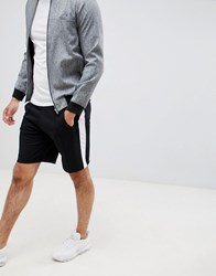 Pull And Bear Pullandbear Shorts In Black With Side Stripe