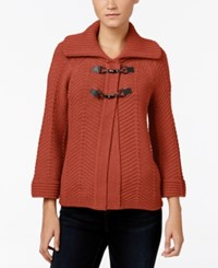 Jm Collection Toggle Cardigan Only At Macy's Rusty Red