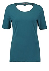Evenandodd Basic Tshirt Deep Teal Dark Green