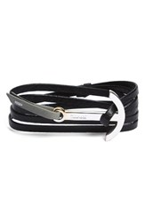 Miansai Men's Modern Anchor Two Tone Wrap Bracelet