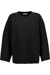 Helmut Lang Oversized Ribbed Wool And Cashmere Blend Sweater Black