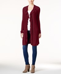 Inc International Concepts Ruffled Cardigan Only At Macy's Port