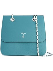 Mark Cross Chain Strap Shoulder Bag Blue