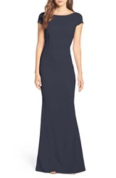 Katie May 'S Plunge Knot Back Gown Navy